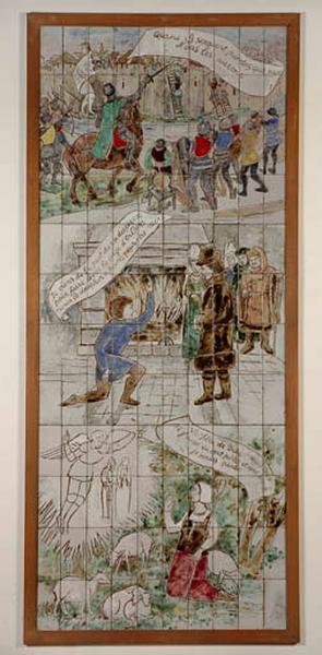 ensemble de 2 panneaux muraux : Vie de Jeanne d'Arc