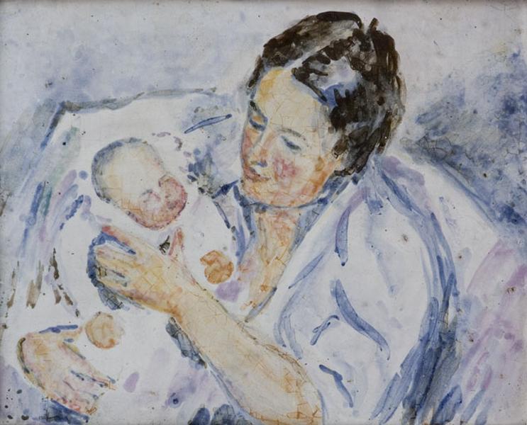 plaque décorative : maternité