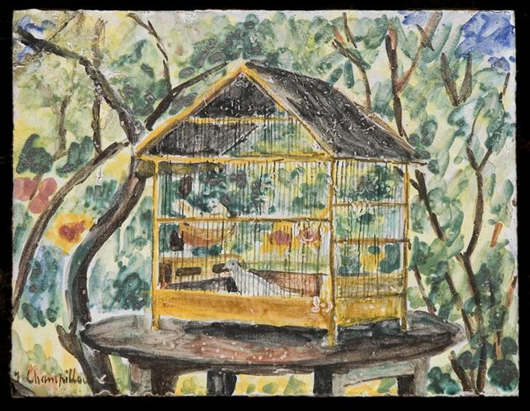 carreau : cage aux oiseaux