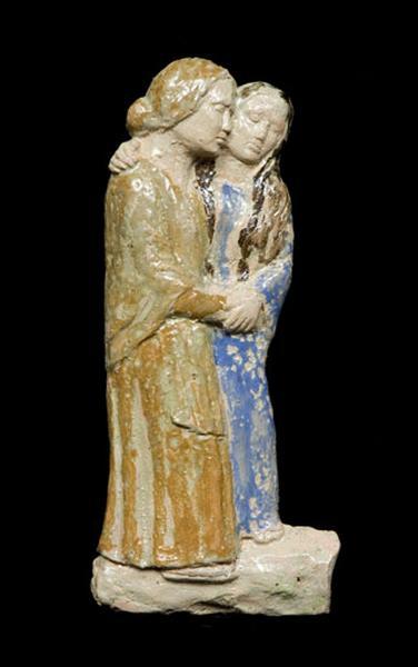 bas-relief : les femmes de Jérusalem (extrait de la VIIIème station de chemin de croix)