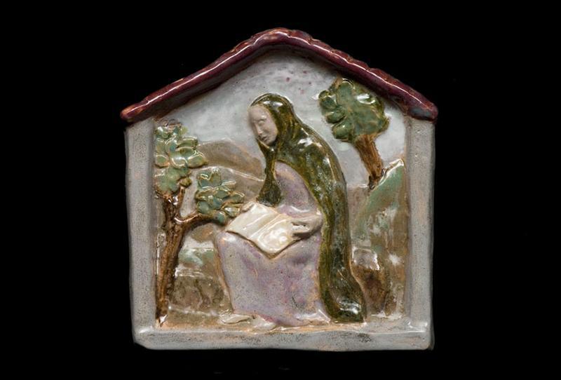Plaque de dévotion : sainte Claire