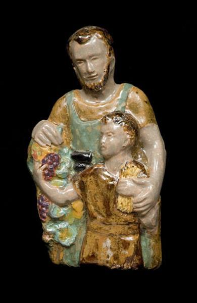 bas-relief : saint Joseph et l'Enfant Jésus