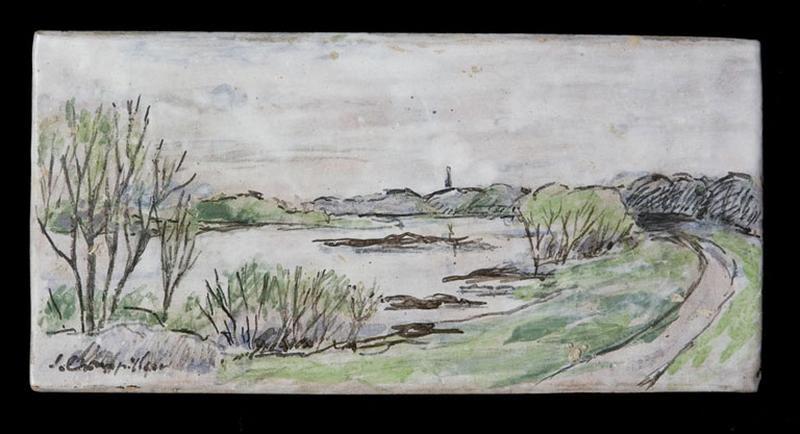 panneau : paysage de bord de Loire