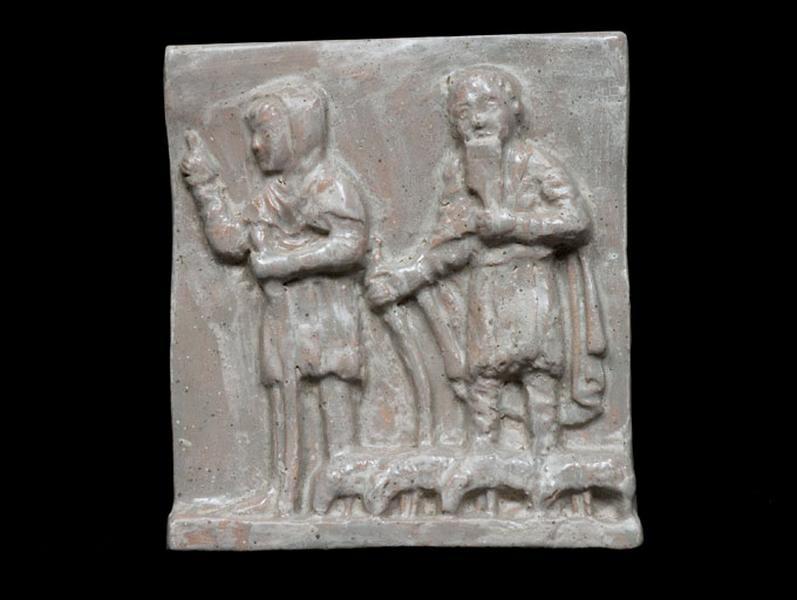 plaque décorative : bergers