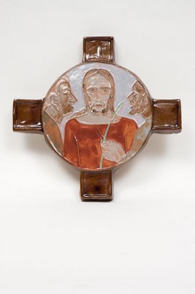 ensemble de 2 médaillons : Ière et VIème stations de chemin de croix