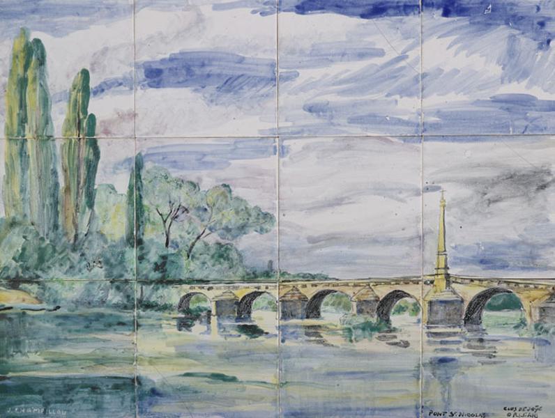 panneau : le pont Saint-Nicolas