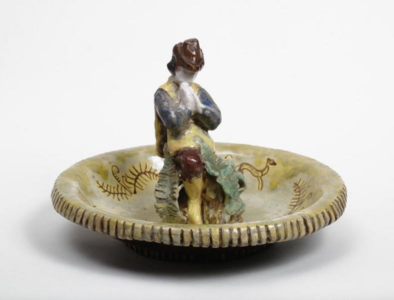 plat décoratif : saint Hubert