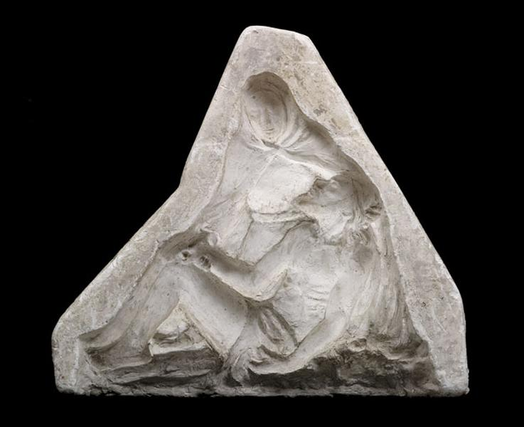 Moule de haut-relief : Vierge de pitié