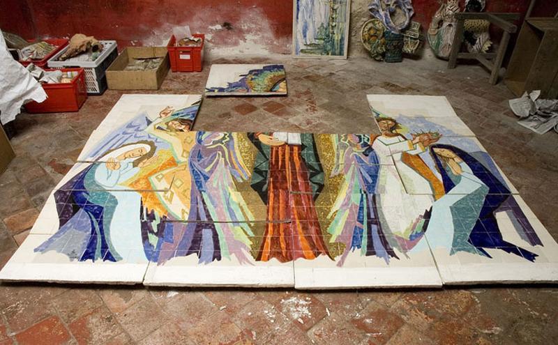 panneau : Vierge à l'Enfant dite Notre-Dame de Consolation