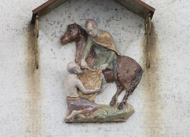 haut-relief : Charité de saint Martin