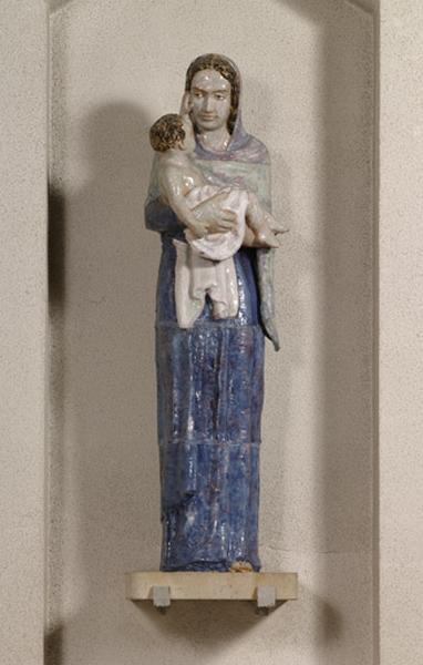 statue : Vierge à l'Enfant dite Notre-Dame des Blossières