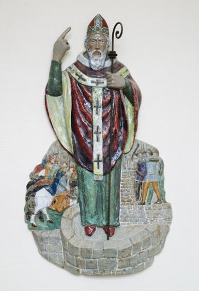 Haut-relief : saint Aignan