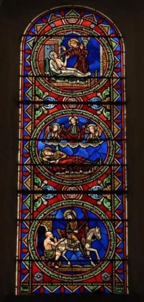 Verrière représentant des épisodes de la vie de saint Martin