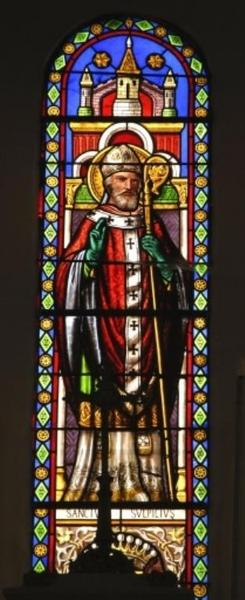 Verrière représentant saint Sulpice