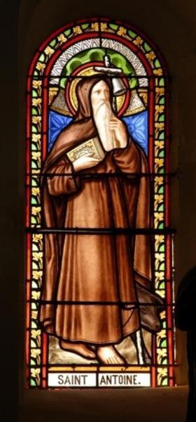 Verrière représentant saint Antoine l'ermite