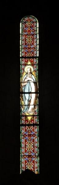 Verrière représentant l'Immaculée Conception
