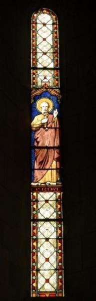 Verrière figurant saint Pierre