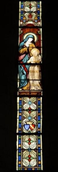 Verrière figurant l'Éducation de la Vierge