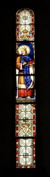 Verrière représentant saint Louis