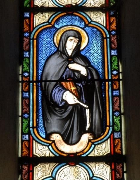 Verrière représentant sainte Françoise