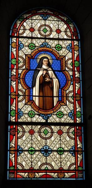 Verrière représentant sainte Catherine de Sienne