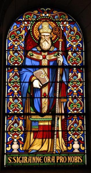 Verrière représentant saint Cyran
