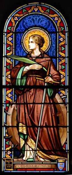 Verrière représentant sainte Catherine d'Alexandrie