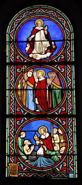 Verrière représentant saint Charles Borromée