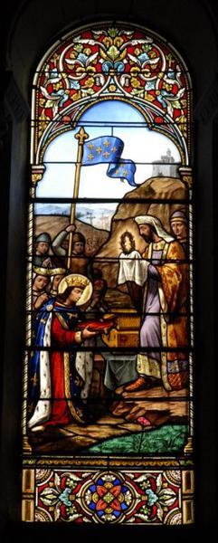 Verrière représentant saint Louis recevant la Couronne d'épines