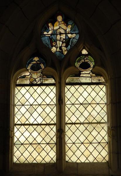 Verrière représentant le ravissement de sainte Marie-Madeleine