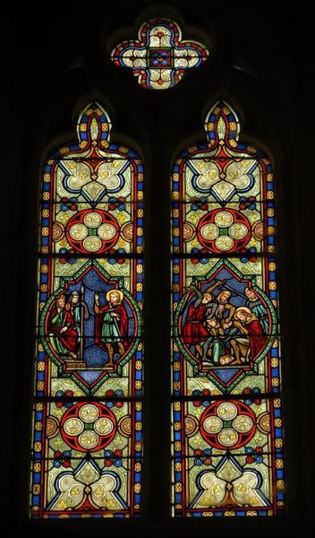 Verrière représentant le martyre de saint Maurice et de la Légion Thébaine
