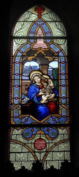 9 verrières figurant la Vie de la Vierge et du Christ