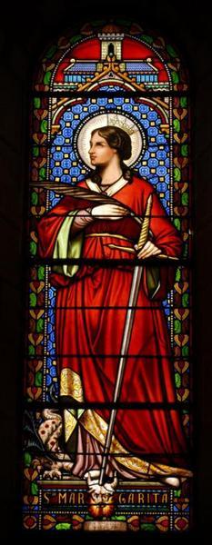 Verrière représentant sainte Marguerite