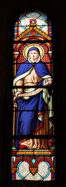 Verrière représentant sainte Anne