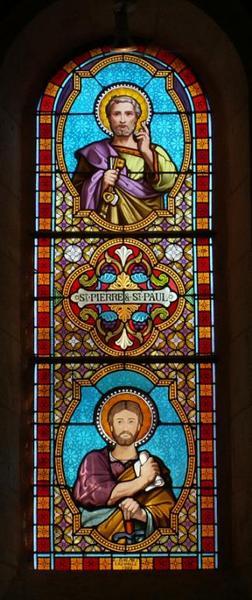 Verrière représentant saint Pierre et saint Paul