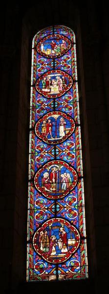 Verrière représentant la vie de sainte Rodène