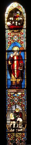 Verrière représentant saint Martin