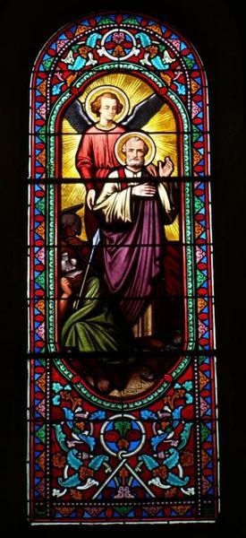 Verrière représentant saint Pierre délivré de sa prison