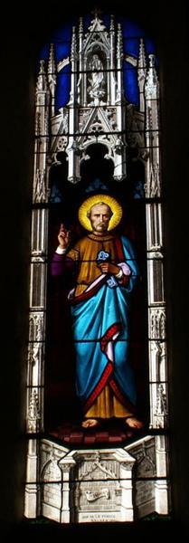 2 verrières figurant saint Charles Borromée et saint Pierre