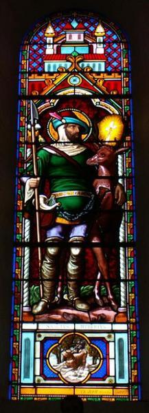 Verrière représentant saint Hubert