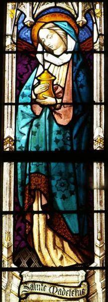 Verrière représentant sainte Catherine et sainte Madeleine
