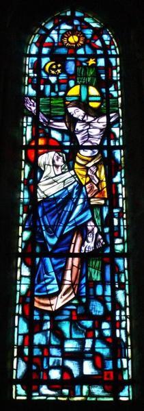 3 verrières représentant des épisodes de la vie de la Vierge