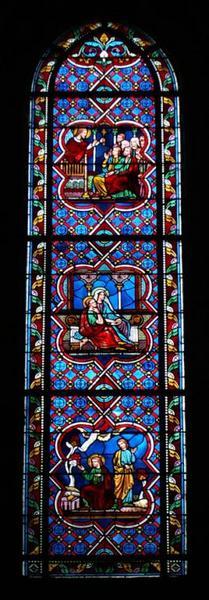 Verrière représentant la Vie de saint Augustin