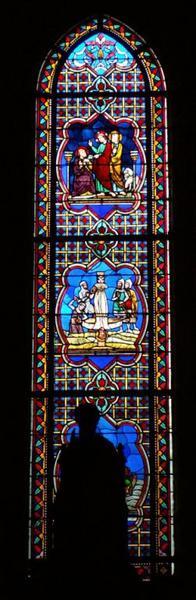 Verrière représentant la Vie de saint Pierre