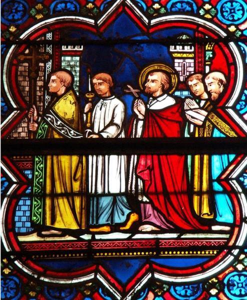 Verrière représentant la Vie de saint Charles Borromée