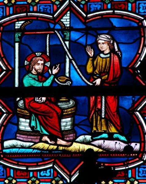 Verrière représentant des épisodes de la Vie du Christ