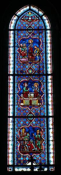 Verrière représentant la Vie de saint Théodore