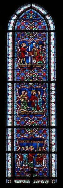 Verrière représentant saint Vincent, saint Laurent et saint Éloi