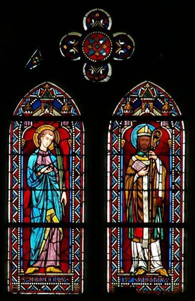 Verrière représentant saint Marcel et saint Sulpice