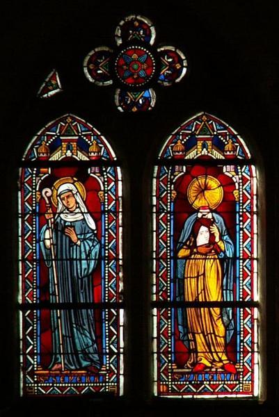 Verrière représentant sainte Sévère et sainte Valérie